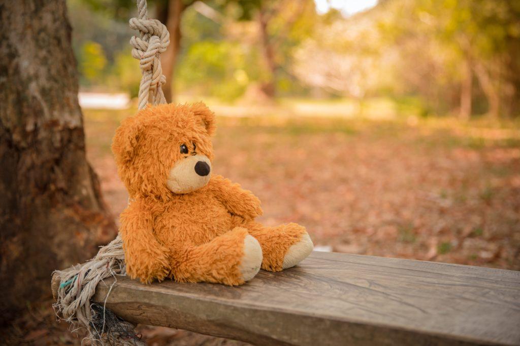 Ein einsamer Contentbär